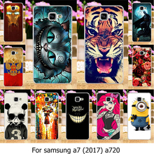 Buy Soft TPU Mobile Phone Case Samsung Galaxy A7, 2017 Duos A720 5.7 inch Case Painted Cat Tiger Cover Housing Back Skin for $1.68 in AliExpress store