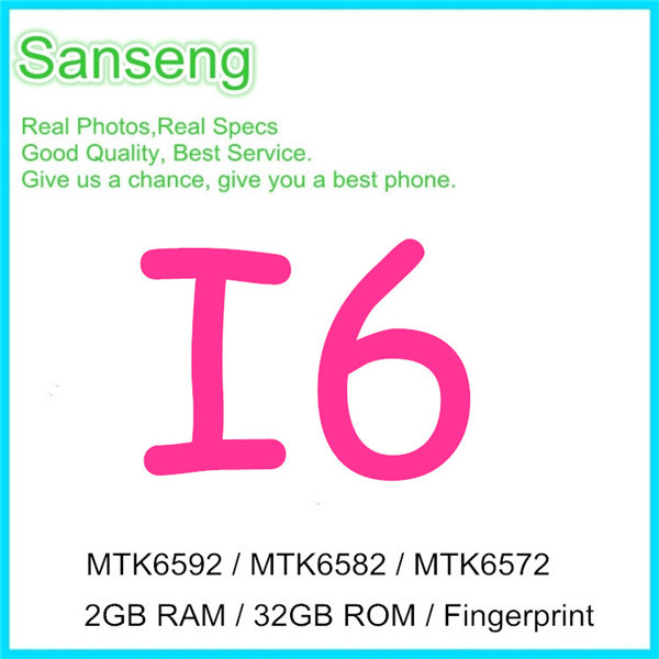 """Real Fingerprint 5.5"""" I6 Plus MTK6592 Octa core Cell Phone 4.7"""" I6 MTK6582 Quad core 32GB ROM Android 4.4 Show 4G Network Phone(China (Mainland))"""