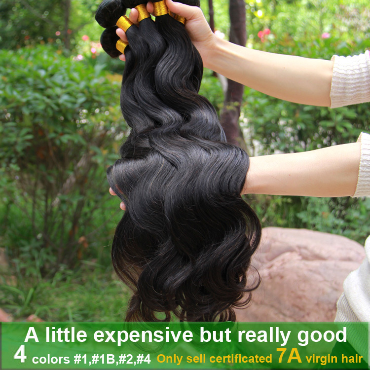 Rosa hair product unprocessed 6A brazilian virgin hair 3/4 pcs brazilian virgin hair body wave no shedding human hair extension(China (Mainland))