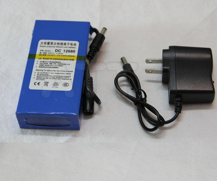 Portable Lithium Ion Battery, super capacitor dc 12 V 6800mAh in Video Surveillance, Computer Aided Manufacture Free Shipping(China (Mainland))