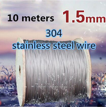 1.5MM Roll High Stainless Steel Wire Rope Tensile Diameter 7X7 Structure Cable 10M/lot(China (Mainland))