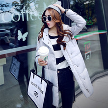New Winter Coat Women Solid Color Women's Clothing Long Cotton Jacket Hooded Wadded Jackets Coats Casual Parkas Plus Size C1261