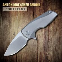 2015 el más nuevo XINZUO Anton Malyshev Gnome bolsillo plegable del cuchillo D2 hoja de acero inoxidable TC4 aleación de titanio envío gratis