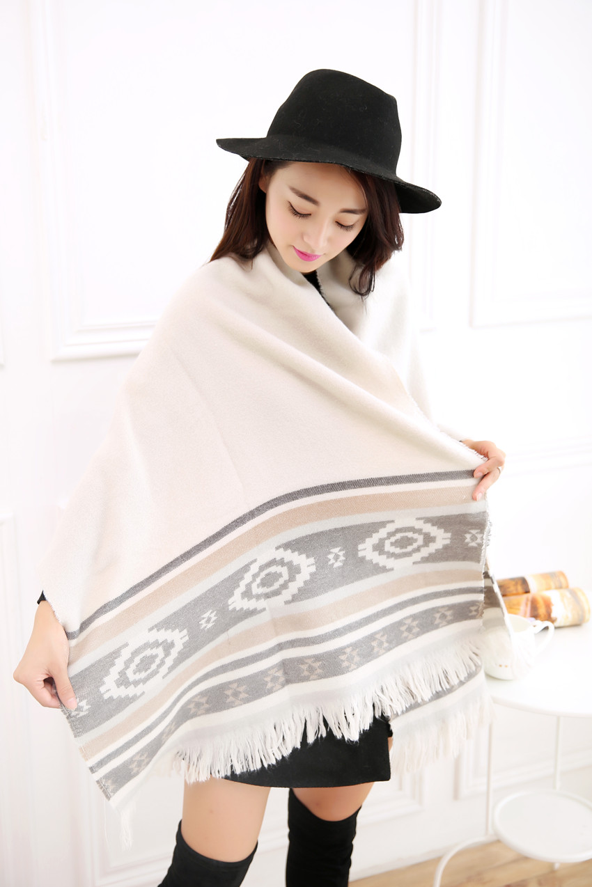 16 years worsted cashmere blankets warm autumn and winter new jacquard scarves Women s font b
