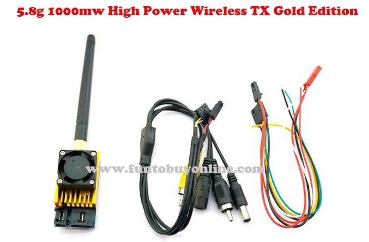 Good! 5.8G 1000mW 1W FPV Transmitter High Power Transmitting Module (TX) Golden Edition FT581W, rc flight hobbies(China (Mainland))