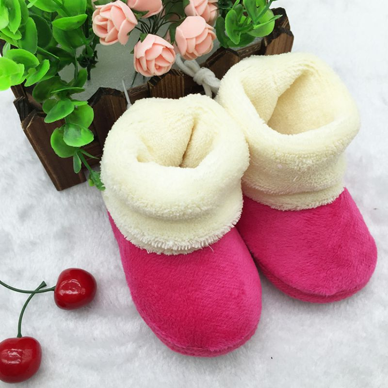 Top quality Infant baby Boys Girls Toddler Soft Soled First Walkers Winter Newborn Baby Flock Warm Pre-walker flock Shoes 082(China (Mainland))
