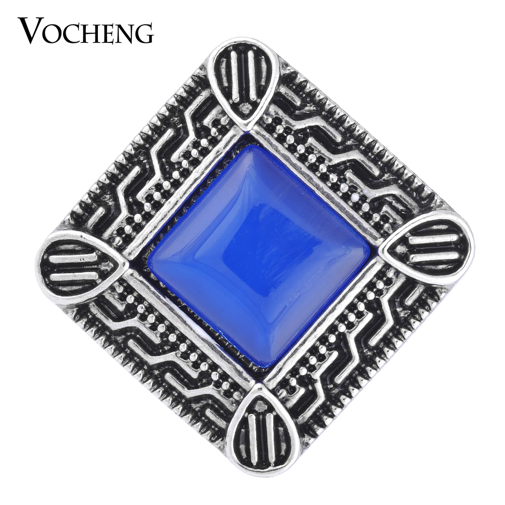 Vocheng Vintage Square Shape 18mm 3 Colors Rhinestone Snap Charm Vn-1092 Free Shipping(China (Mainland))