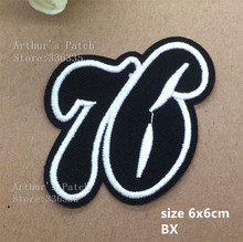 1number 76 embroidered Iron Patches BX garment hat bag badge Quality Appliques diy accessory - Endora's Discounted Store store