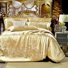 2016 NEW Gray flowers High Quality Silk Tencel satin Jacquard Bed linen Bedding set Queen king size Bedclothes Duvet cover set(China (Mainland))