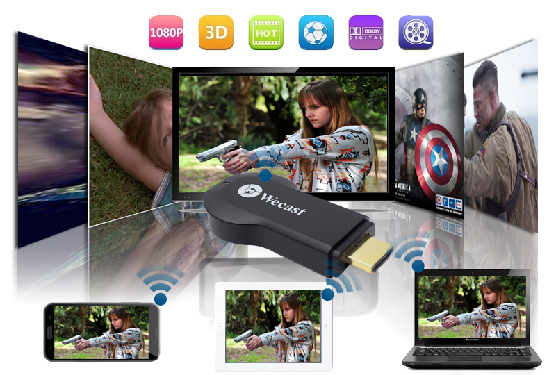 Miracast Dongle Airplay Android TV Stick hdmi wifi ipush better than google chromecast rk3288 streaming media player(China (Mainland))