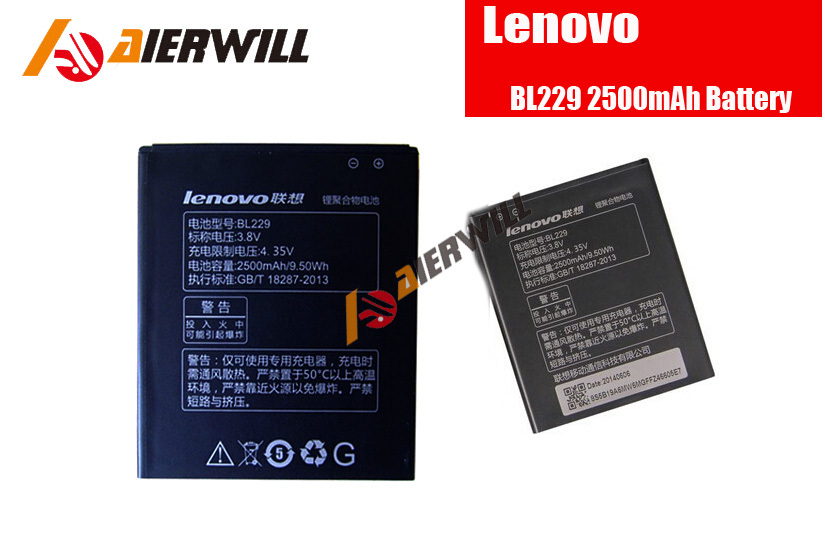 New In Stock 100% Original BL229 2500Mah Battery For Lenovo A8 A806 A808t Smart Mobile Phone + Free shipping