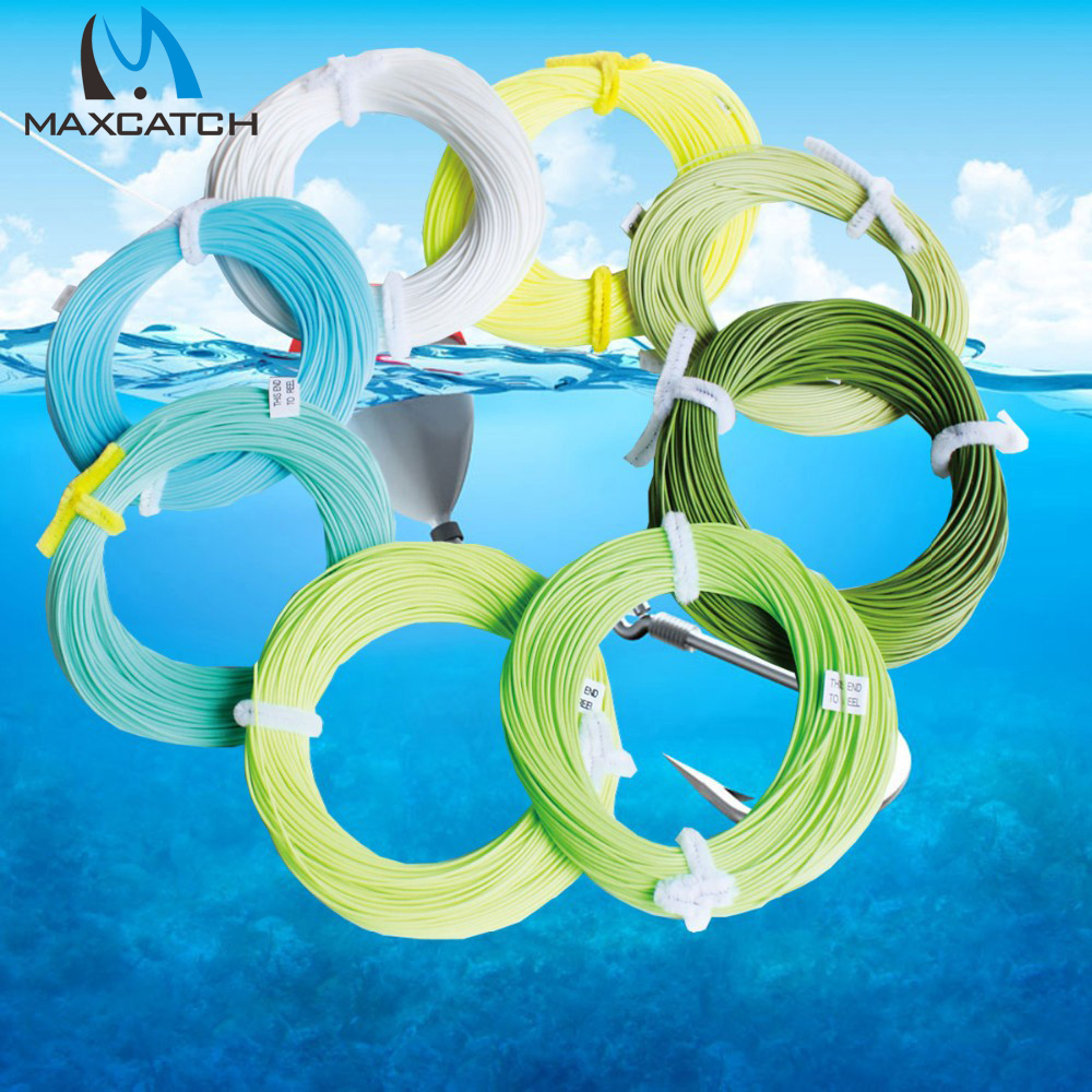 Maxcatch 100FT Weight Forward Floating Fly Line Multy Color And Size To Choose Fly Line(China (Mainland))
