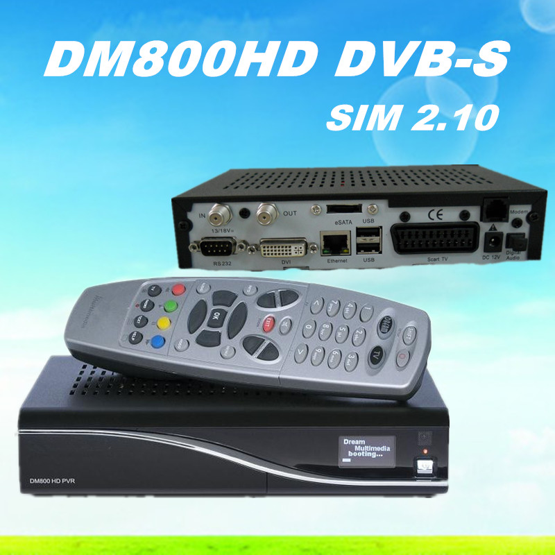 DM800 hd Pro Alps Tuner REV M Version BL84 SIM2.10 DM 800hd Digital Satellite Receiver DM800HD PVR dm 800 hd Pro Free Shipping(China (Mainland))
