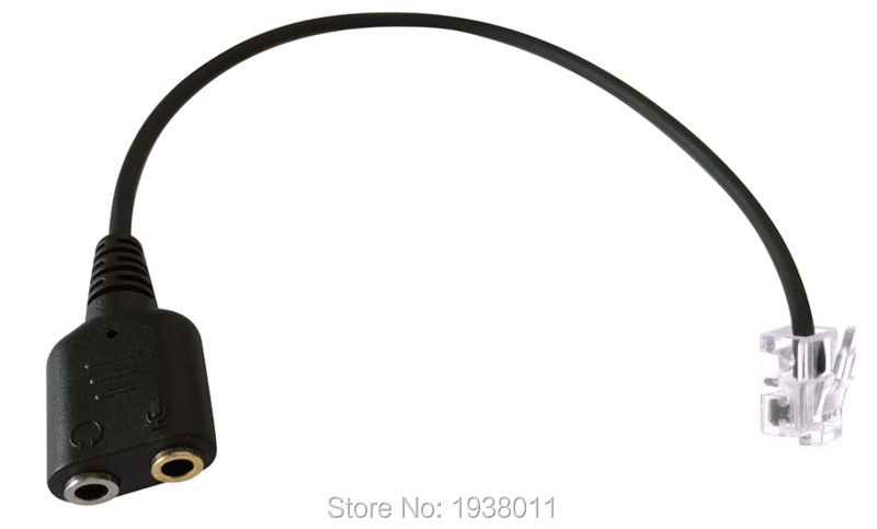 TOP QUALITY PC Headset Adapter Computer Stereo Dual 3.5mm to Phone RJ9 Phone Jack for Cisco IP Phones 7940 7941 7942 7971 etc(China (Mainland))