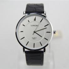 Reloj de cuarzo, moda casual relojes, hombres ver marcas de lujo, cuero real, conciso y fácil, hombres de negocios de los el reloj de pulsera marca