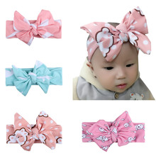Buy Cotton Elastic Cute Kids Baby Girls Hair Bands Cute Soft Bowknot Bandanas Bunchems Hair Accessories Free for $2.66 in AliExpress store