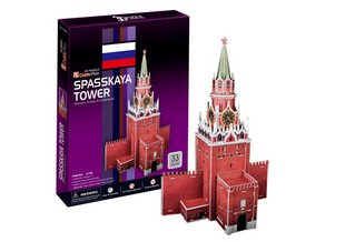 CUBICFUN 3D three-dimensional construction paper puzzle model gift Moscow's Red Square Clock Tower bell tower Spasskaya tower(China (Mainland))