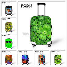 Retail Leaf Print Travel Luggage Suitcase Protective Covers Luggage Case Protective Dust Cover Equipment Accessories 18-30 inch(China (Mainland))