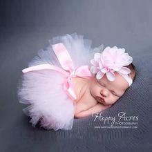 Fluffy Skirt Newborn Baby Infant Girl Tutu Skirt Flower Headband Photography Princess Christmas Skirt 0-6 months Baby Gift(China (Mainland))