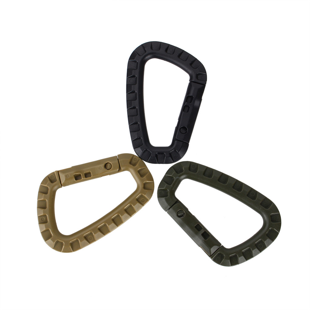 Outdoor Placstic D Shape Buckle Camping Climbing Carabiner D Shape Mountaineering Buckle Fast Hang Mini Buckle Hook(China (Mainland))
