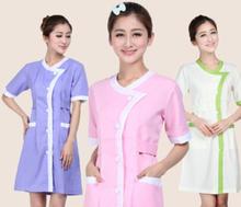 Vestiti vestiti utensili cosmetici divise del personale di estate abito corto-manicotto(China (Mainland))
