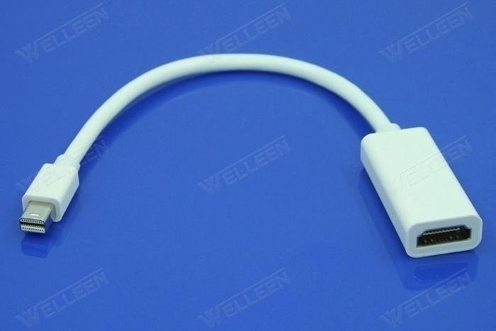 Brand New Apple Mini Displayport to HDMI cable with audio white color(China (Mainland))
