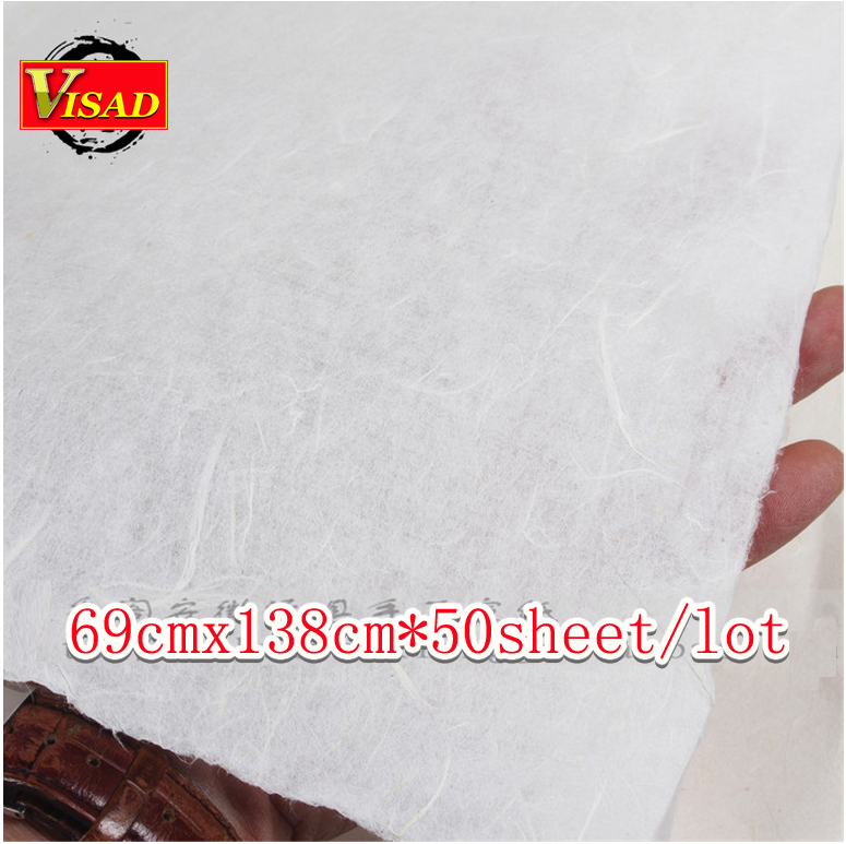free shipping 50sheet/lot 69*138cm hand-made Chinese xuan paper & rice paper for painting and decoupage