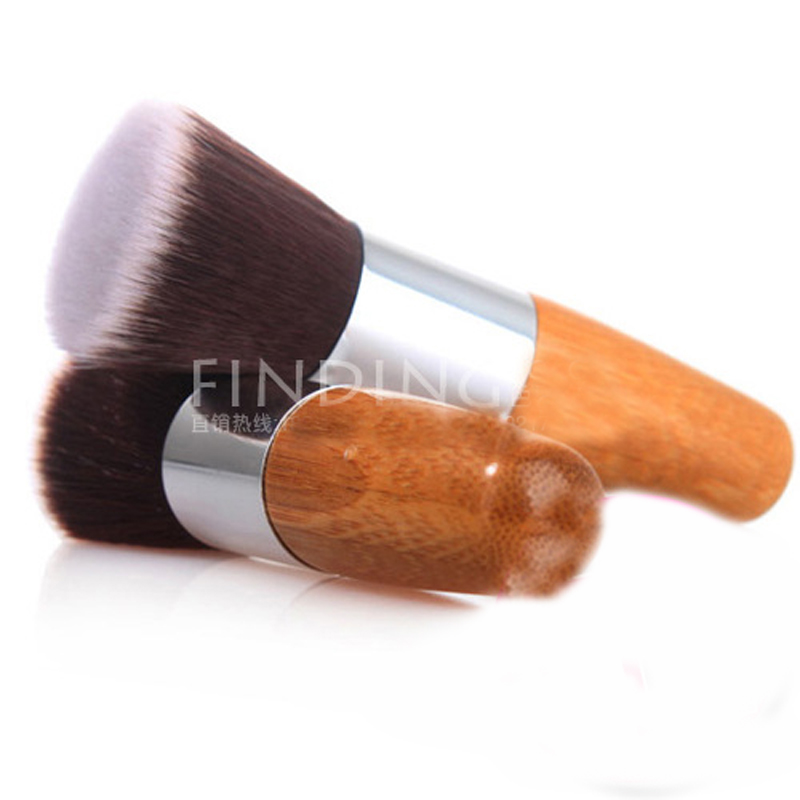Professional Makeup Brush Flat Top Brush Foundation Powder beauty Brush Cosmetic Make up brushesTool Wooden For mac Makeup Brush(China (Mainland))