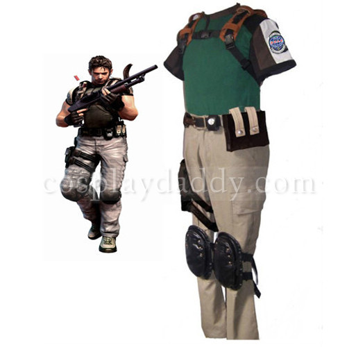 Resident Evil 5 Chris Cosplay Costume-in Clothing from ...