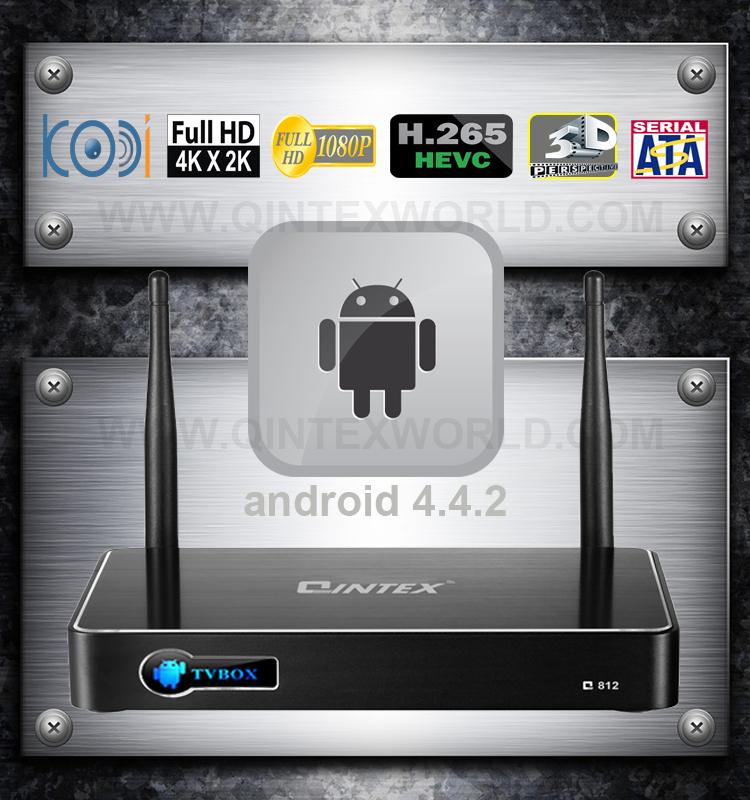 Android TV Box Qintex Q812 Amlogic S812 Quad core Mini PC Google Kitkat Smart Media Player 4K XBMC Free Shipping(China (Mainland))