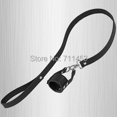 Wholesale Scrotum Leashes Male Penis Scrotum Strap On Harness Leather Belt Sex Slave Master Traction Sex Set<br><br>Aliexpress