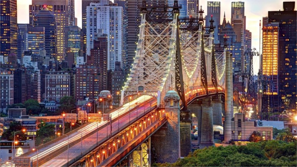 24X36 INCH / ART SILK POSTER / Beautiful amazing great landscapes new york city usa east river manhattan queensboro bridge(China (Mainland))