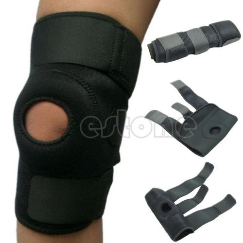Adjustable Strap Elastic Neoprene Knee Patella Support Sports Brace Adjustable Strap Black(China (Mainland))