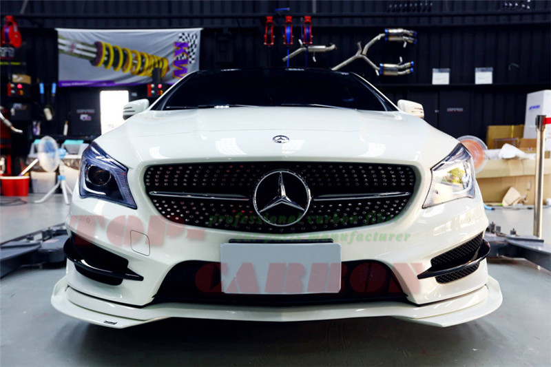 pour mercedes benz cla45 amg w117 cla250 cla260 2013 2014 2015 fiber de verre avant splitter. Black Bedroom Furniture Sets. Home Design Ideas