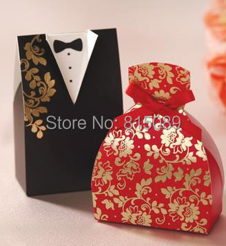 Wedding Gift Bag For Bride And Groom : The Bride and Groom Wedding Candy Box Gift Bag Wedding Favor Holders ...