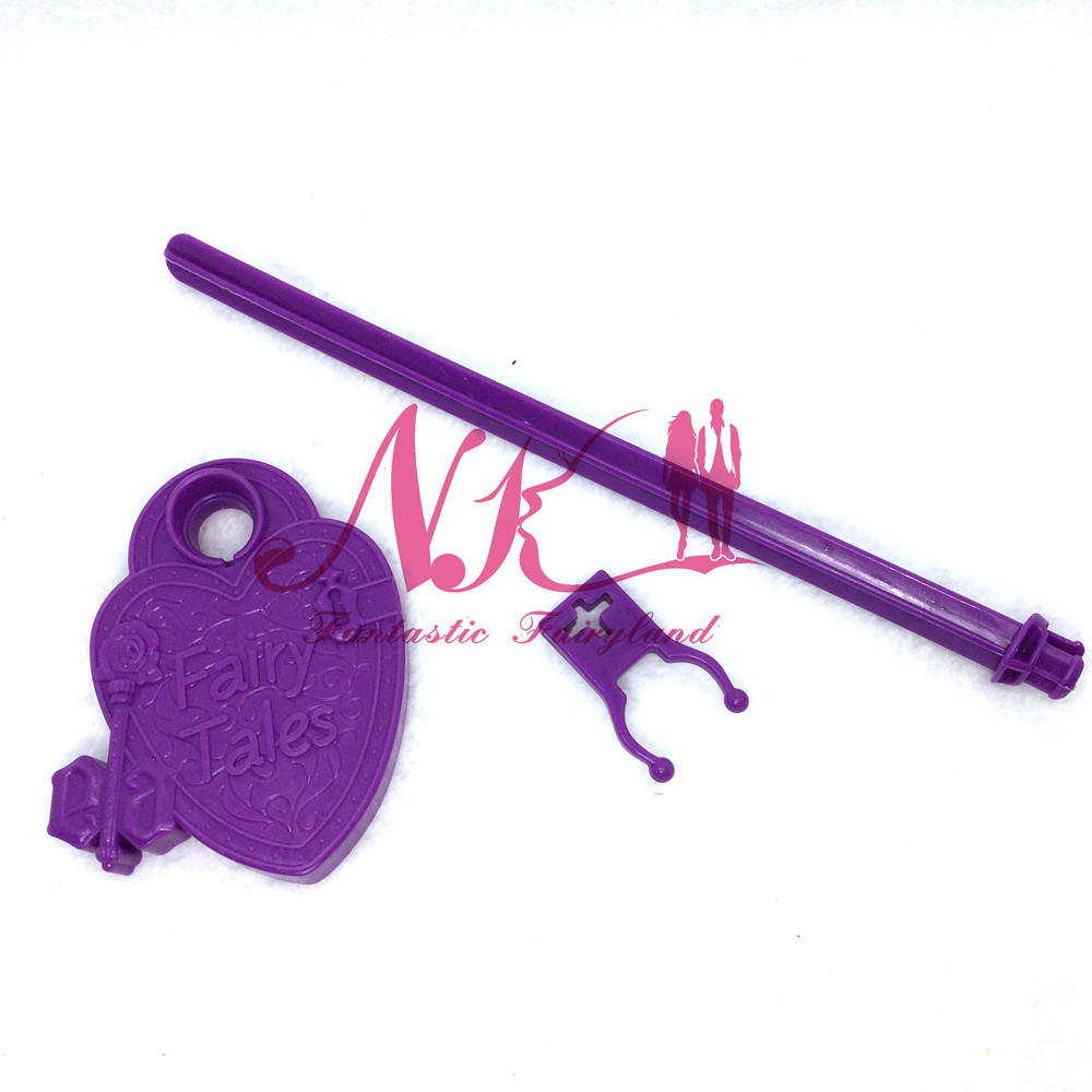 NK  Wholesale four Pcs /Lot  Doll's Stand Show Holder Purple Pink  For Monster Excessive dolls For Ever After Excessive Doll's Equipment