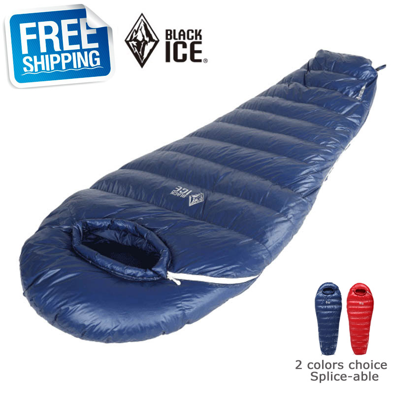 Blackice G400 Mummy Splicing Blue/Red Single 75x190cm/80x205cm Ultra Light Winter Sleeping Bag Compression - Forest Yan's Outlet Store store