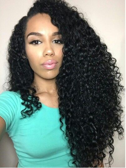 2016! Rosa hair products Glueless Full Lace Wigs For Black Women Mongolian Virgin Hair Kinky Curly Lace Front Wig 8-24inch<br><br>Aliexpress