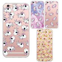 Sacred Unicorn Animals Pattern Cell Phone Cases Cover For Apple iphone 5 5s / 6 6s Soft Clear Skin Back Cover Capa