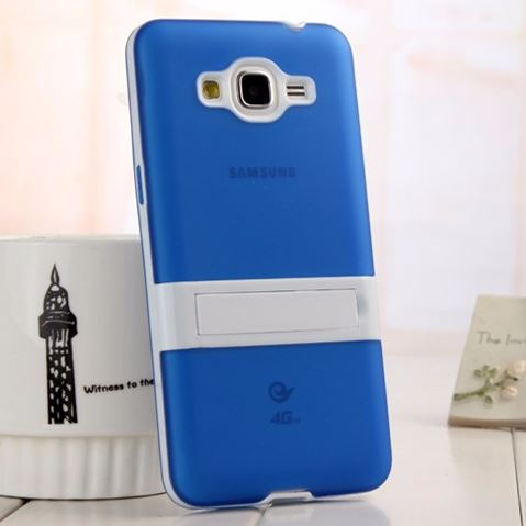 Grind arenaceous transparent stand holder cover case Samsung Galaxy Grand Prime G530 G530h tpu+pc protect shell Cover - Moon walk store