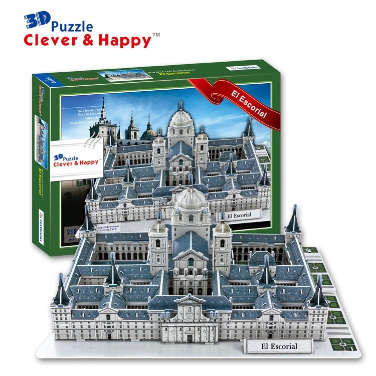 Top World famous buildings Jigsaw Model 3D Puzzle Spain El Escorial DIY Xmas Gift Toys childrens day Learning Education - Fashion Shop 7 store