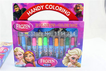 Princess Anna frozen2 peppa pig movies Elsa pattern 12 color watercolor pens children's coloring the painting this painting pen(China (Mainland))