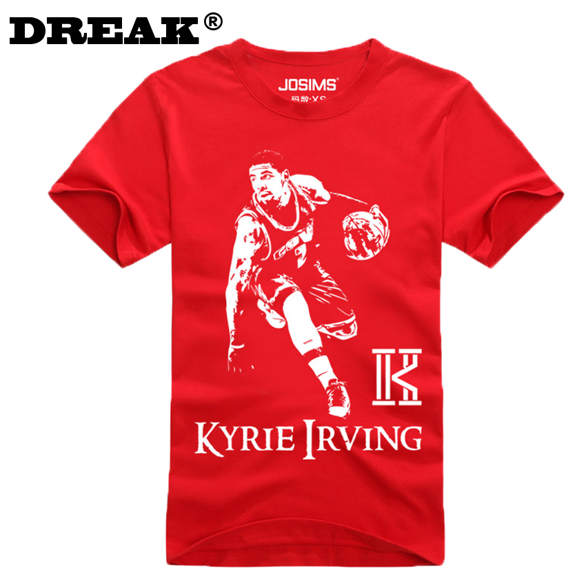 2016 summer cavalierse kyrie irving short sleeved t shirt for Cheap college t shirts online