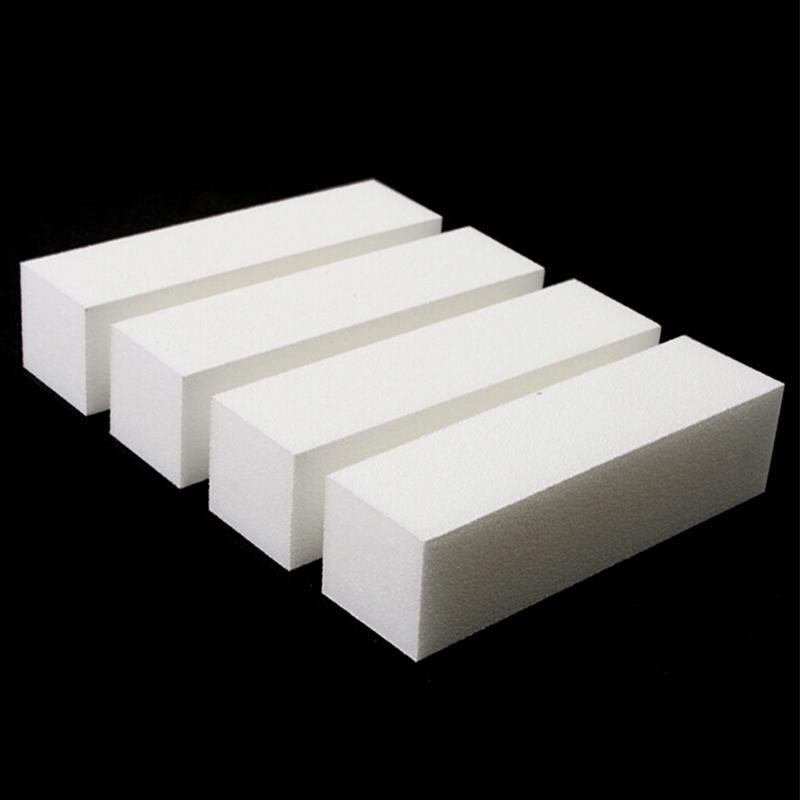 10 Pcs/Lot Nail Art Buffing File Block Pedicure Manicure Buffing Sanding Polish White Nail File Nail Art Tips(China (Mainland))