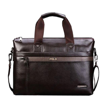 Hot Sell Promotion Simple Dot Design Famous Brand Business Men Briefcase Bag,Luxury Wholesale Leather Laptop Bag For Man(China (Mainland))