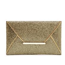 Excellent Quality Charming Women Evening Party Bags Gold Sequins Bag Purse Clutch Handbags Envelope Pattern Shiny Purse Bolsas(China (Mainland))