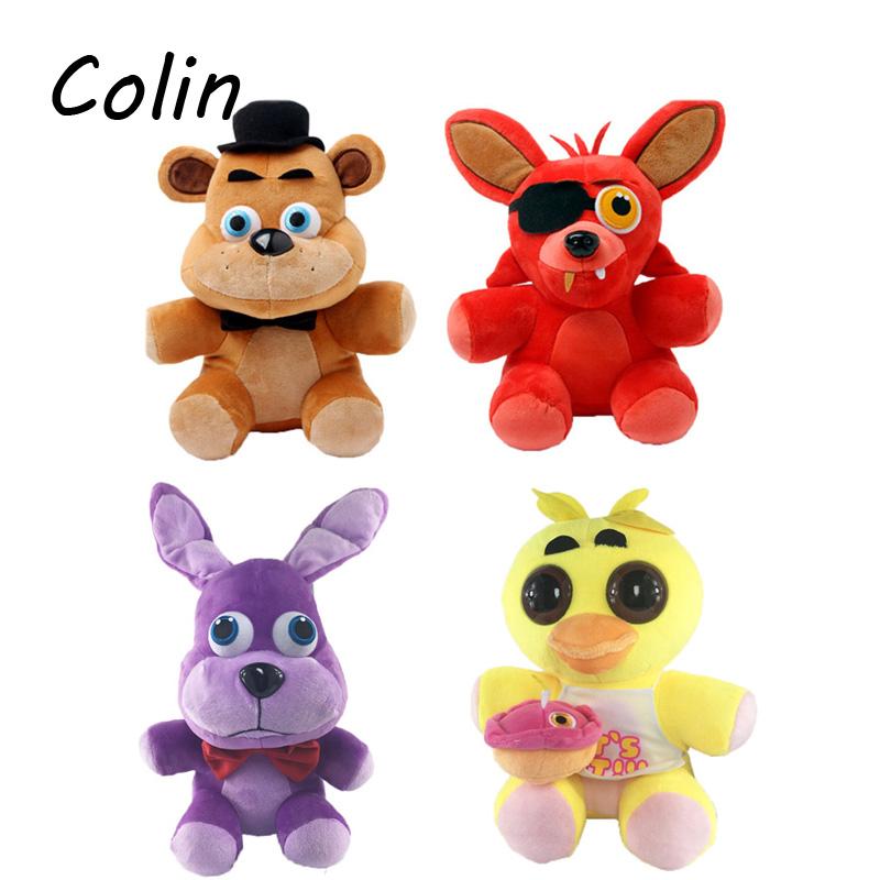"""Five Nights At Freddy's 4 FNAF Freddy Fazbear Bear Fox Rabbit Duck Plush Toys Doll Fnaf 10"""" Foxy Toys WJ205(China (Mainland))"""