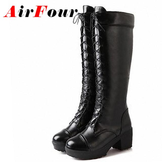 Airfour нью-готический обувь женщина косплей мотоцикла ботинки женщин на платформе ...