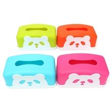 Wholesale 1Pcs Rectangle Plastic Panda Tissue Case Holder Removable Paper Napkin Home Decorated Tissue Boxes(China (Mainland))