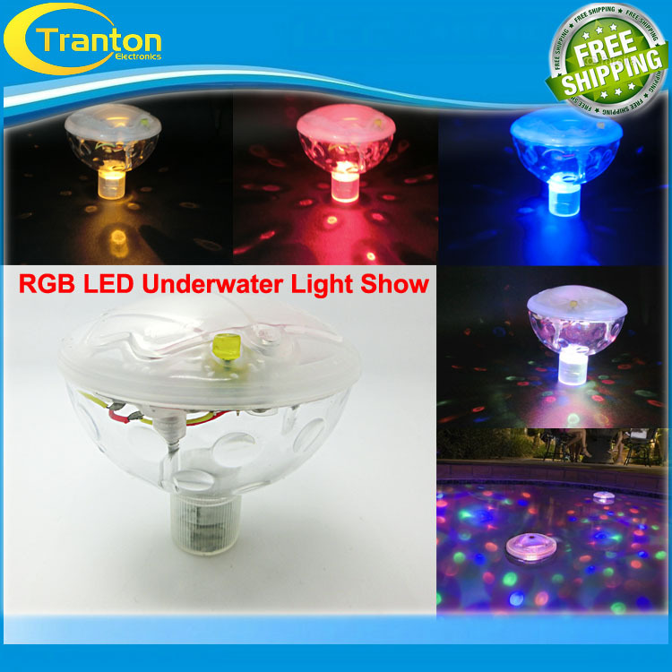 New RGB LED Underwater Light Show LED Disco Ball for Swimming Pool Pond Light with 5 Light Patterns(China (Mainland))